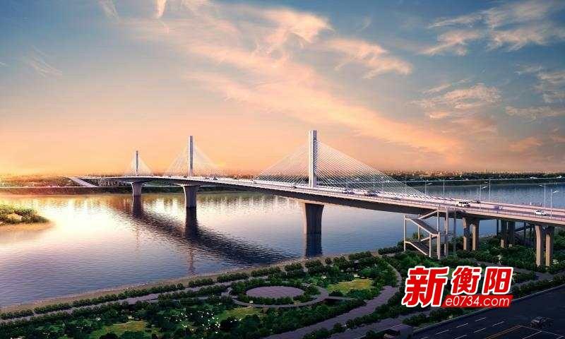衡阳市东洲湘江大桥预计2019年1月底中跨合龙